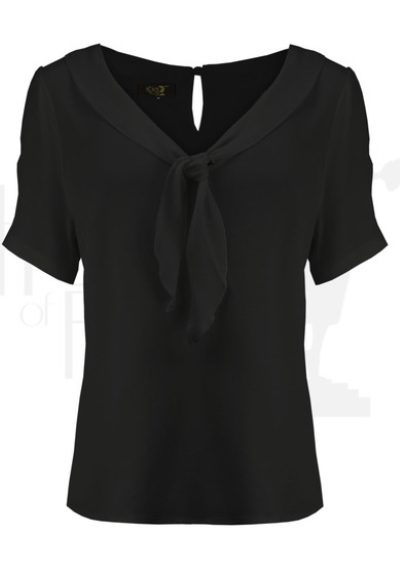 Black shawl blouse