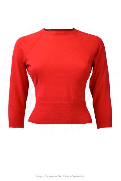 50s sweater girl top