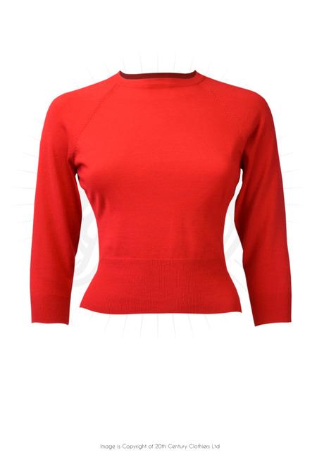 50s sweater girl top