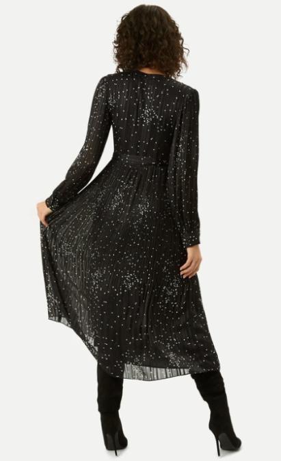 full pleated midi length skirt