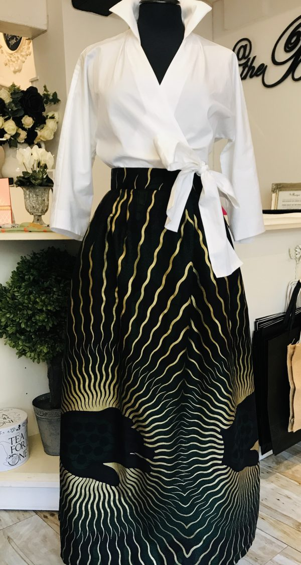 exclusive gold printed skirt