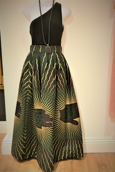 opulent green and gold maxi
