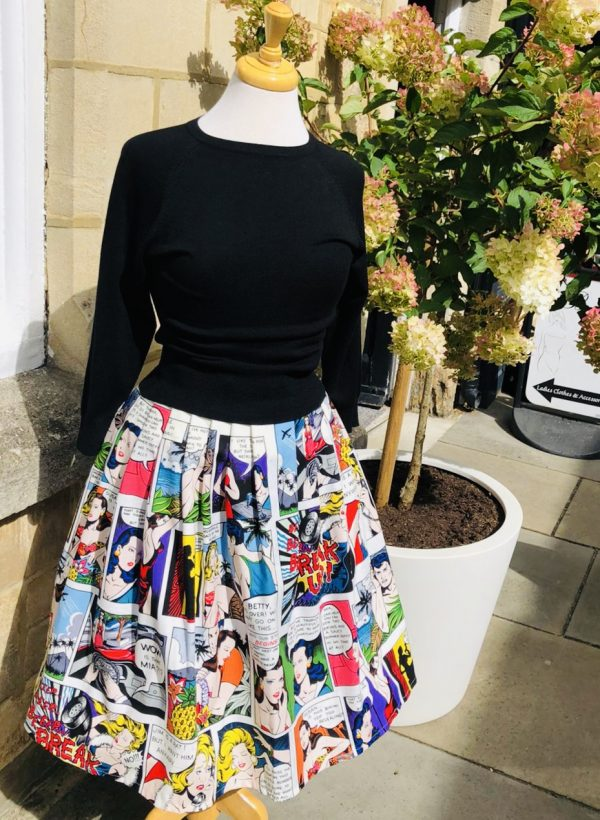 comic strip skirt