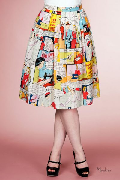 victory parade comic pleated skirt