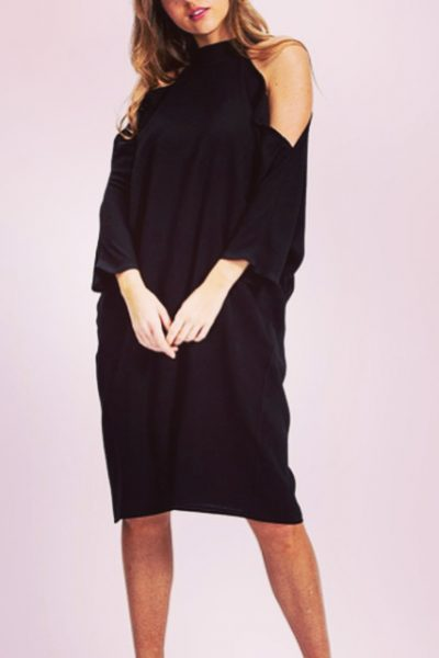 Liquorish cold shoulder dress