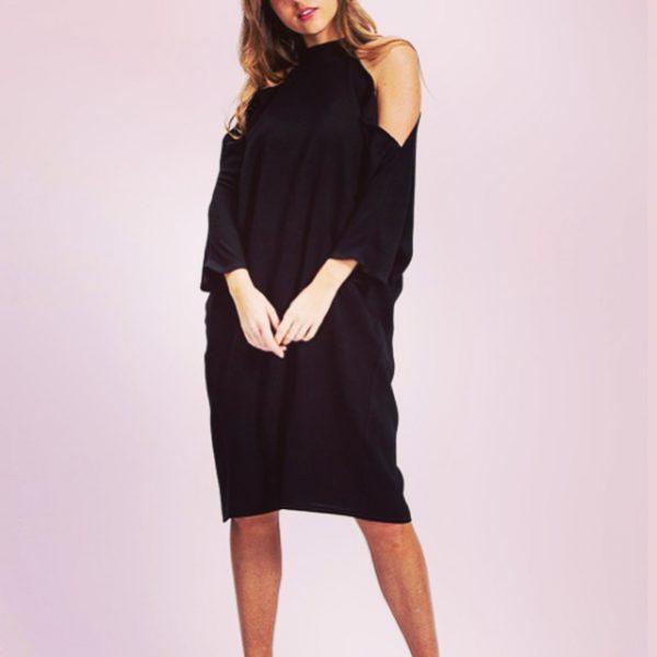 Liquorish cold shoulder dress