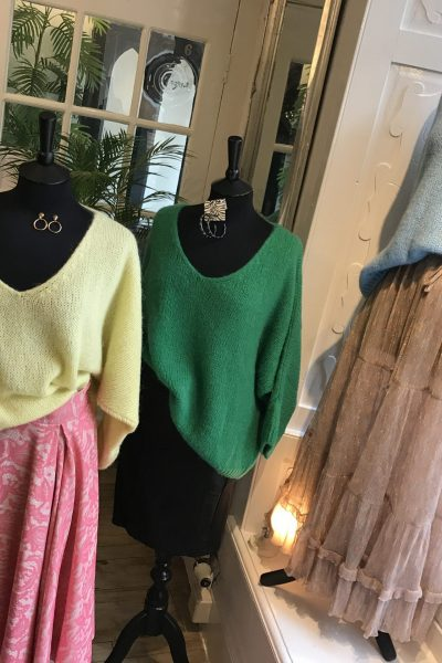 bright slouchy knits