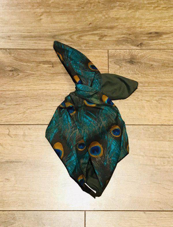 khaki and peacock