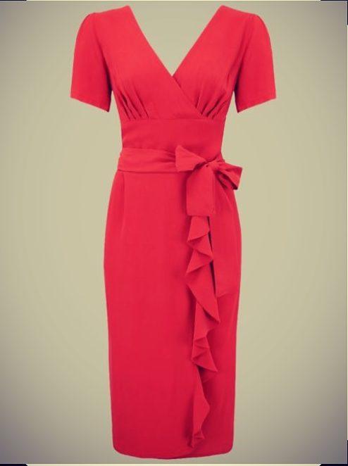 1940s sarong ruffle