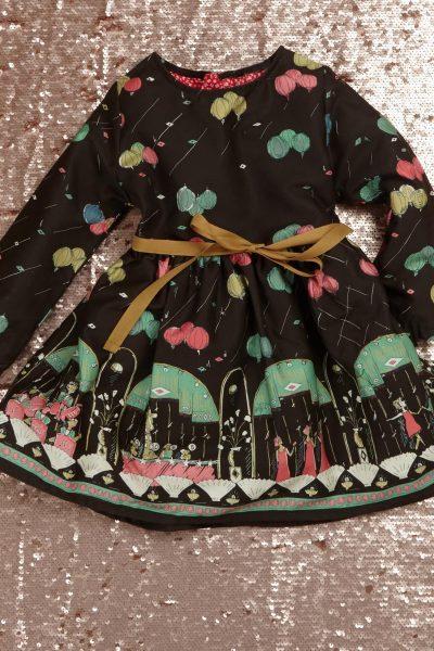 black ballroom dress