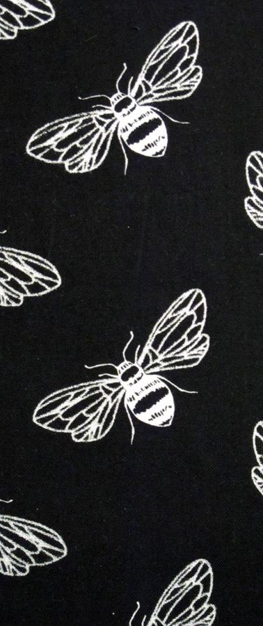 black bees close up