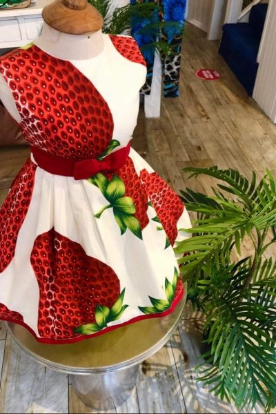 Little girls 50s strawberry