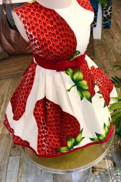 Little girls 50s strawberry