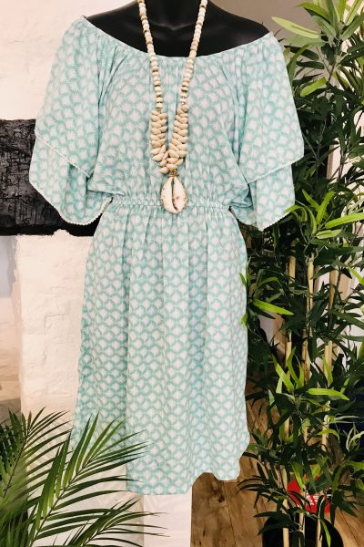 Jade palm tree dress