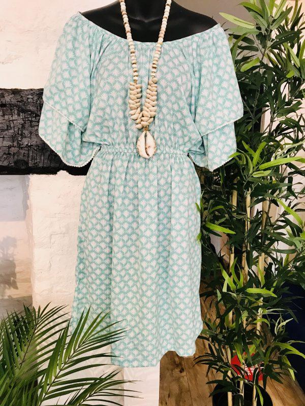 Jade palm tree dress