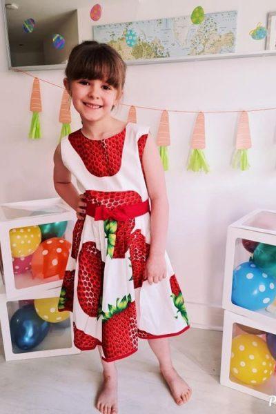 strawberry and cream retro dress