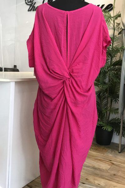 pink twist knot dress