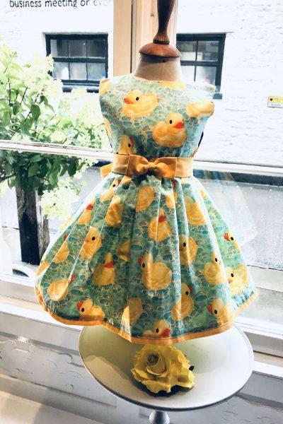 Rubber duck print dress