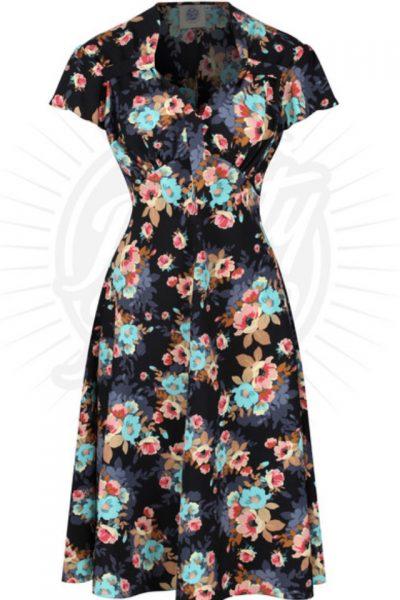 1940s black floral