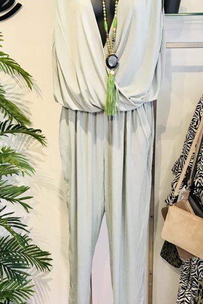 sage cotton jumpsuit