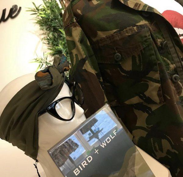 Ex-army camo jacket