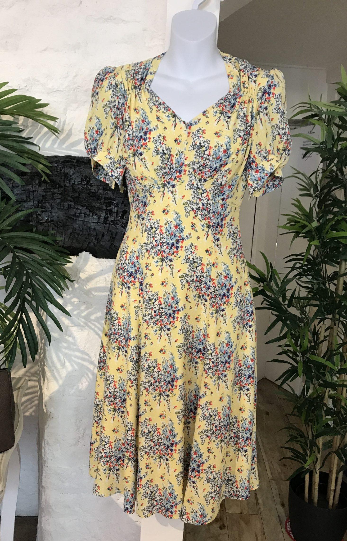 Summer spray tea dance dress