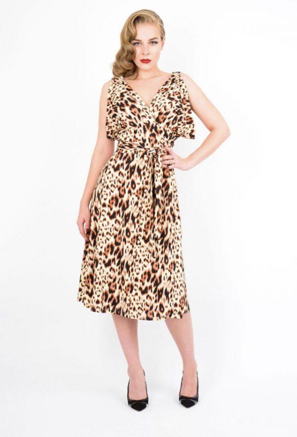 Leopard tia dress