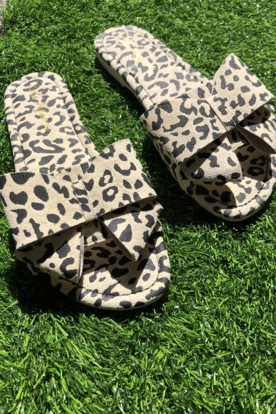leopard bow sliders