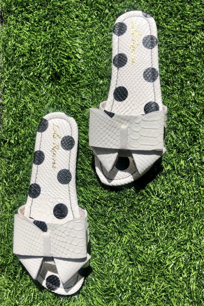 polka dot bow sliders