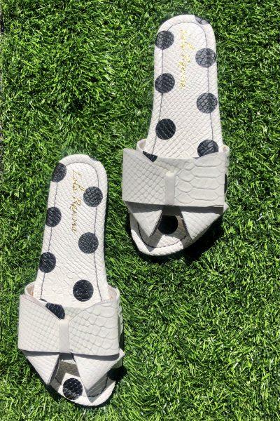 polka dot bow sliders