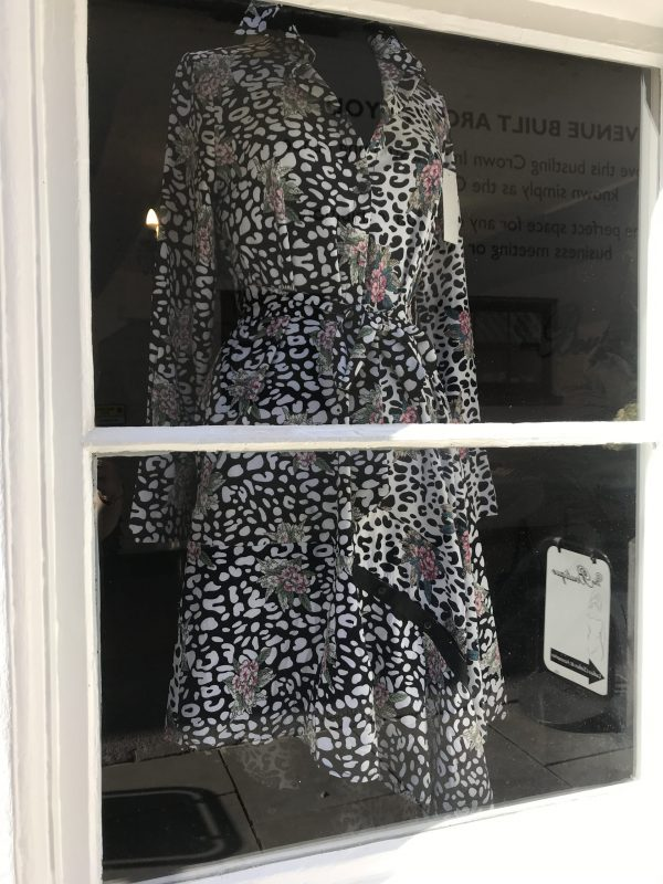 the shirt dress in the window