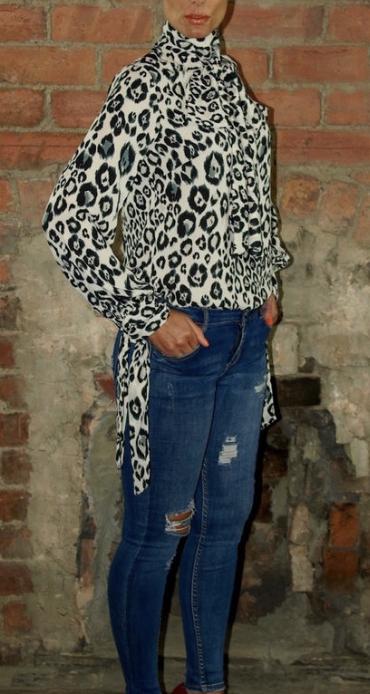 snow leopard blouse