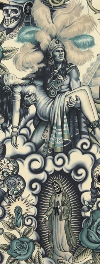 tattoo art print close up
