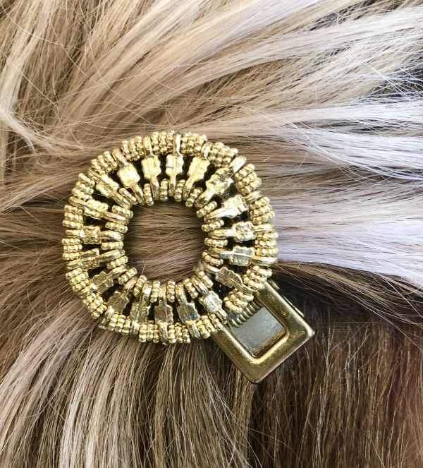 gold hair clip