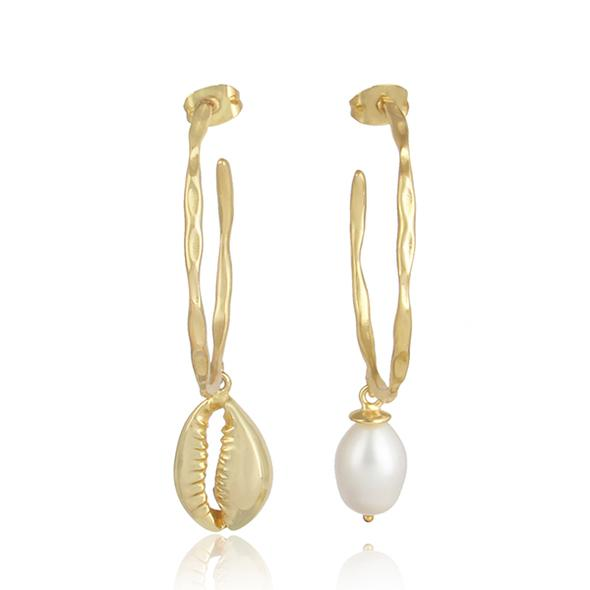 pearl and shell hoops