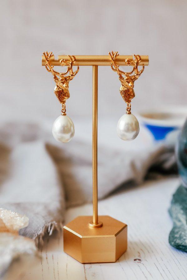 stag head pearl drops