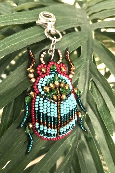 scarab beetle charm