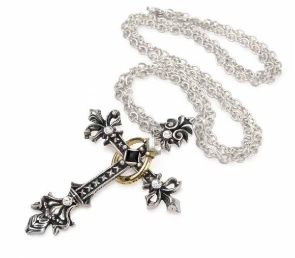 cross ring necklace