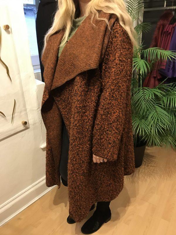 rust slouchy coat