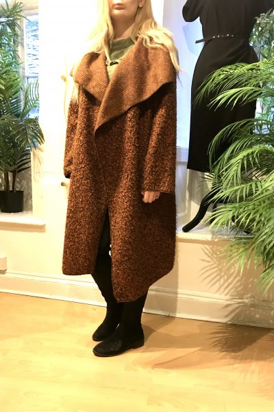 Rust waterfall coat