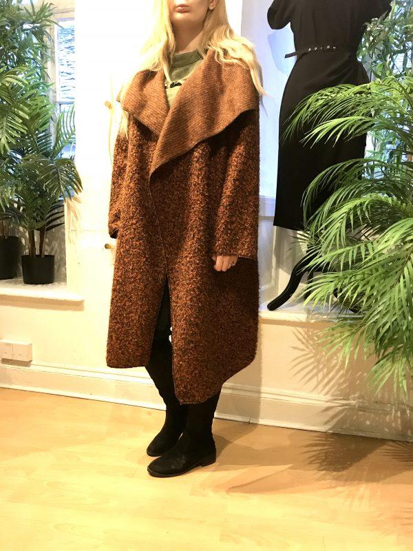 Rust waterfall coat