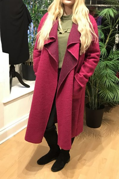 Hot pink waterfall coat