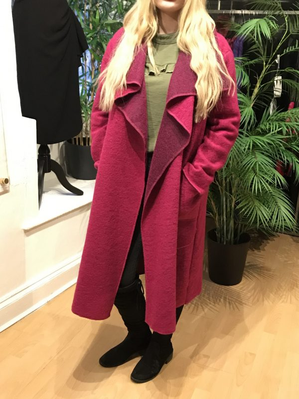 Hot pink waterfall coat