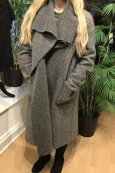 dark grey waterfall coat