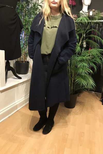 Navy waterfall coat