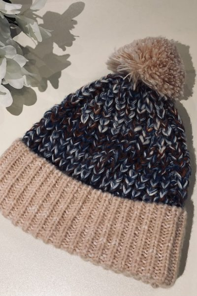 pastel bobble hat