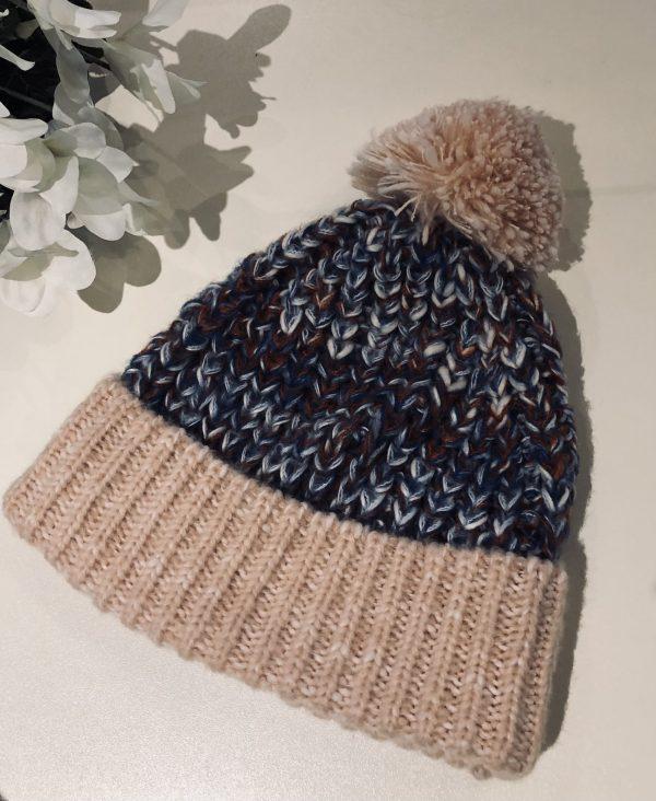 pastel bobble hat