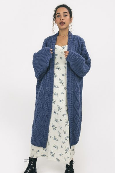 stevie chunky knit maxi cardigan