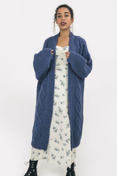 stevie chunky knit maxi cardigan