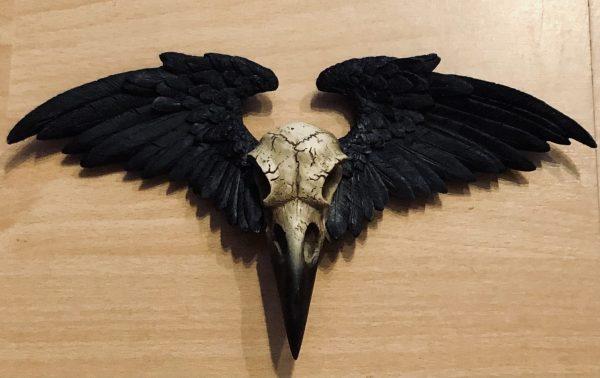 alchemy crow skull hanging